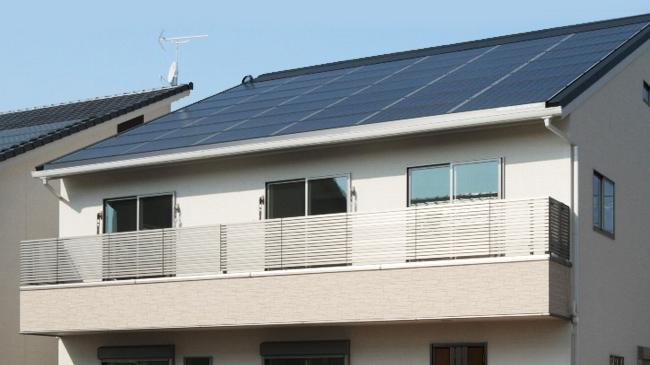 ソーラーパネルを導入した住宅 千葉県旭市